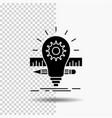 development idea bulb pencil scale glyph icon on vector image vector image