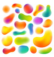 different abstract colorful shapes set vector image