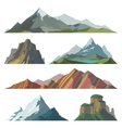 Different mountain vector image vector image
