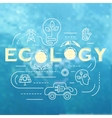 Ecology template banner vector image vector image