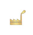 Factory computer symbol vector image vector image