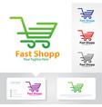fast shop logo vector image vector image