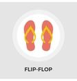 Flip-Flop flat icon vector image vector image