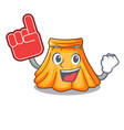 foam finger skirt in a on character beautiful vector image