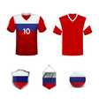 football championship banner flag russia of vector image vector image