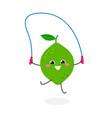 funny cute cartoon lime vector image vector image