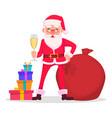 funny santa claus in glasses vector image