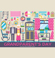 grannys day icons design set flat vector image