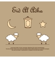 Greeting card template for Eid-Ul-Adha with sheep