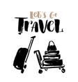 hand drawn trolley with vector image
