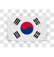 hanging flag korea republic korea national vector image