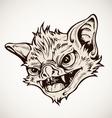 Head bat vector image