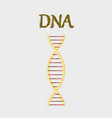 human organ icon in flat style dna vector image vector image