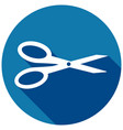 icon scissors with a long shadow vector image vector image
