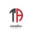 initial letter ta creative elegant circle logo vector image vector image