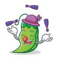 juggling peas mascot cartoon style vector image vector image