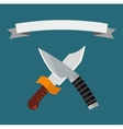 Knifes weapon collection vector image vector image