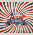 Labor day sale background vector image