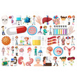 large medical object set vector image vector image