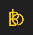 letters bb linked monogram line logo