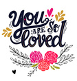 love hand drawn vintage with hand-lettering vector image vector image