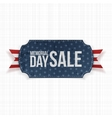 Memorial Day Sale patriotic Label and Ribbon vector image vector image