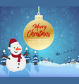 merry christmas happy new year 2019 and snowman se vector image