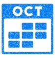 October Calendar Grid Grainy Texture Icon vector image vector image