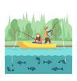 outdoor summer activities fishing sport vector image vector image