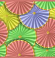 paper umbrellas abstract seamless pattern vector image vector image