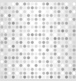 polka dot pattern seamless silver background vector image vector image