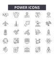 power line icons signs set linear vector image vector image