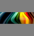 rainbow fluid abstract shapes liquid colors vector image