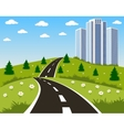 Road to a city vector image vector image