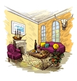 Room Sketch Color vector image vector image