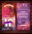 save the date wedding stationery over wood surface vector image vector image