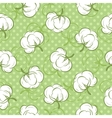 Seamless pattern with cotton buds vector image vector image