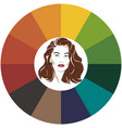 seasonal color analysis palette for autumn type of vector image vector image