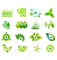Set of eco leaf infographic design templates vector image