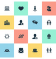 Set of simple mates icons