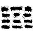 set splatter hand drawn paint texture black vector image