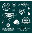 SPA logos typography vector image