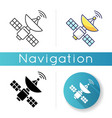 space satellite icon vector image vector image