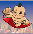 super baby asian city background vector image