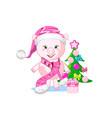 sweet pig in winter hat vector image vector image