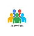 teamwork icon business concept team work logo vector image