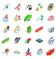 trade platform icons set isometric style vector image vector image