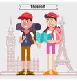 Travel Banner Tourism Industry Active People vector image vector image