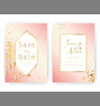 wedding invitation card save date wedding vector image