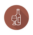 wine flat linear long shadow icon vector image